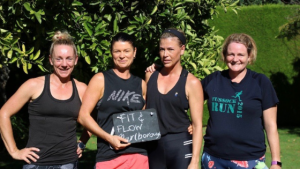 Fit & Flow in the garden at Hahenaca